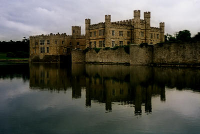 Leeds Castle on a grey day.